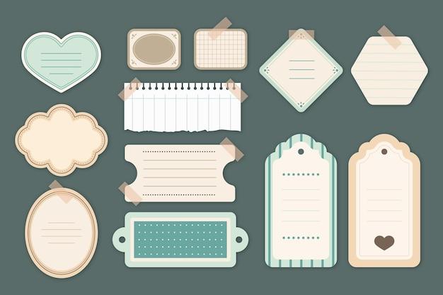 Colección de papel scrapbook vintage vector gratuito