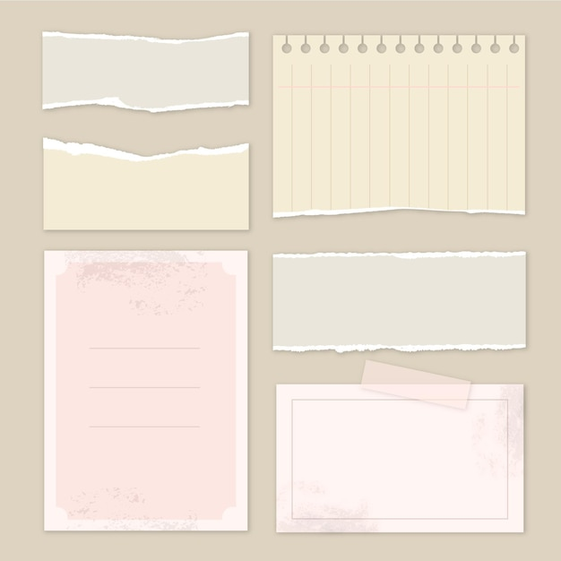 Colección de papel scrapbook vintage Vector Premium