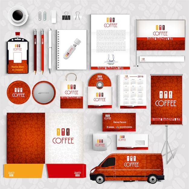Colección de papelería de negocios vector gratuito