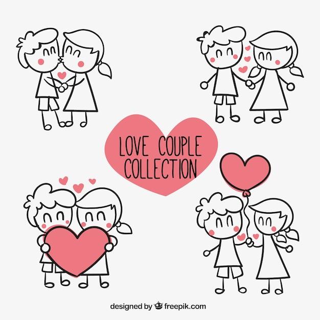Colección de pareja amorosa Vector Premium