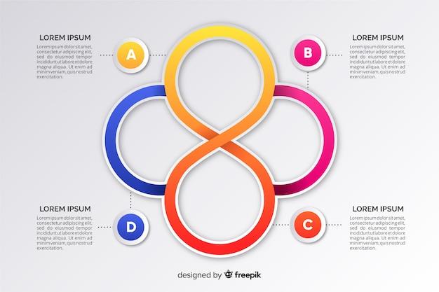 Colección pasos infografía diseño plano vector gratuito