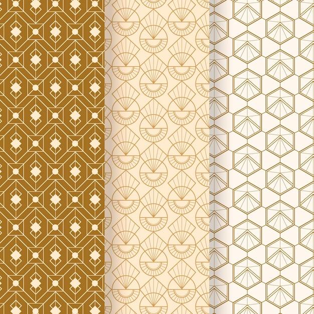 Colección de patrones art deco vector gratuito