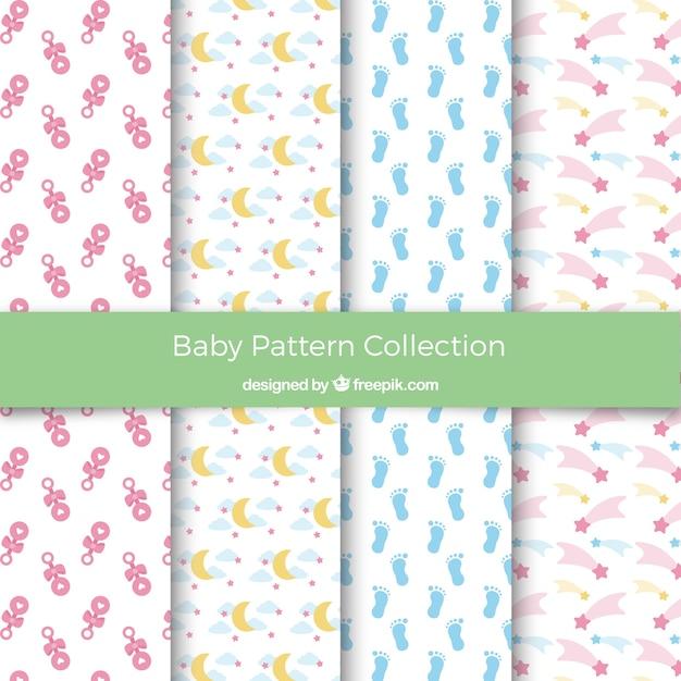 Colección de patrones de bebé | Descargar Vectores gratis
