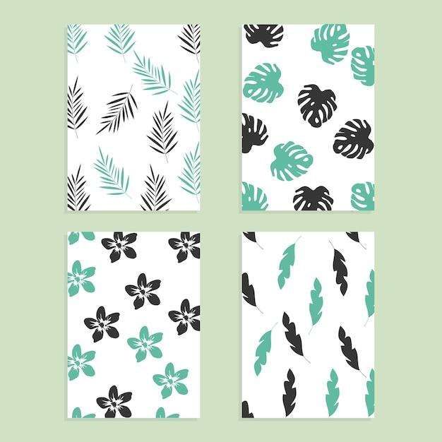 Colección de patrones dibujados a mano sin costura. diseño de ...
