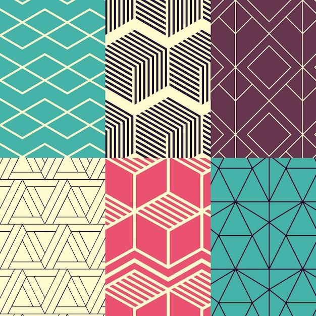 Colección de patrones de diseño minimalista vector gratuito