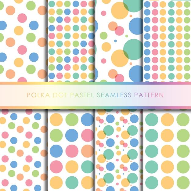 Colección de patrones sin fisuras lunares pastel Vector Premium