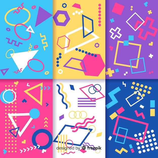 Colección de patrones sin fisuras de memphis vector gratuito
