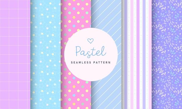 Colección de patrones sin fisuras pastel dulce. vector gratuito