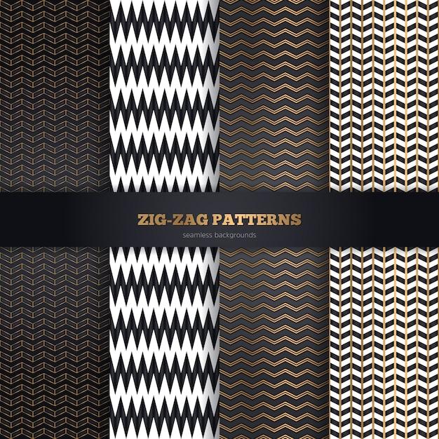 Colección de patrones sin fisuras vector gratuito