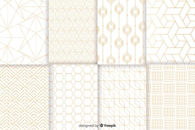 Colección de patrones geométricos de lujo vector gratuito