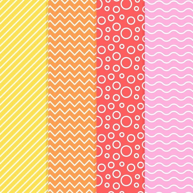 Colección de patrones geométricos mínimos vector gratuito