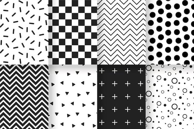 Colección de patrones geométricos mínimos Vector Premium