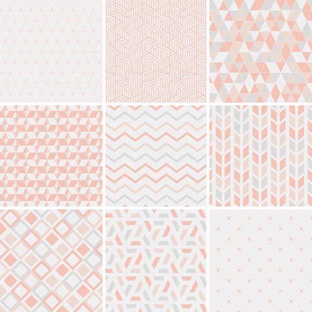 Colección de patrones de ilustración vectorial vector gratuito