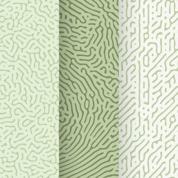 Colección de patrones de líneas redondeadas Vector Premium