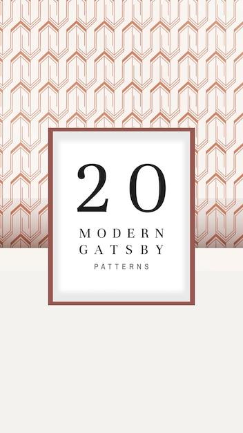 Colección de patrones modernos de gatsby vector gratuito
