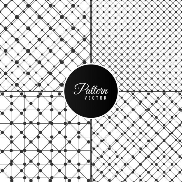 Colección de patrones con puntos y rayas | Descargar Vectores gratis