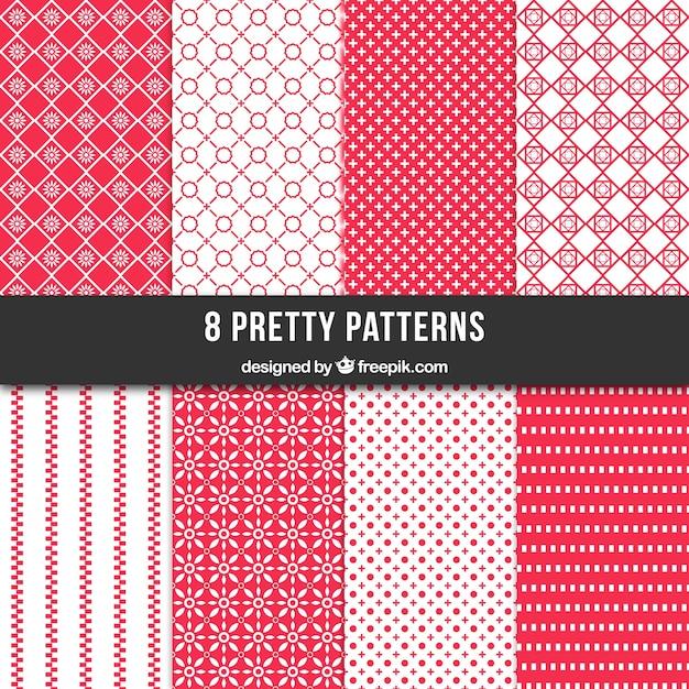 Colección patrones retro geométricos Vector Premium