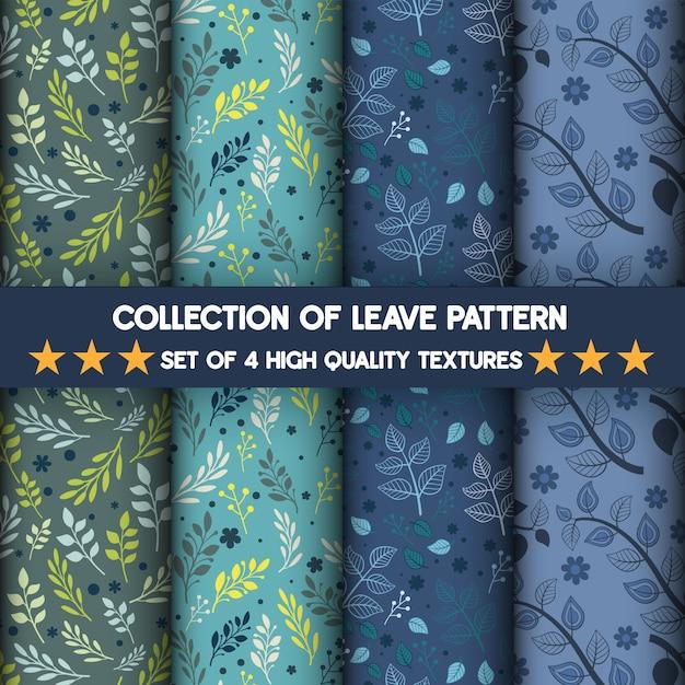Colección de patrones de texturas de alta calidad y sin costuras. Vector Premium