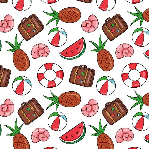 Colección de patrones de verano vector gratuito