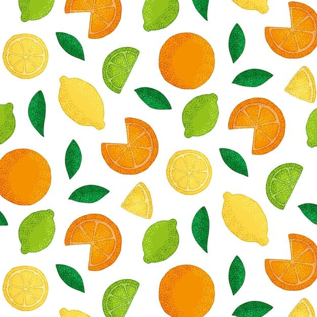 Colección perfecta de frutas exóticas vector gratuito