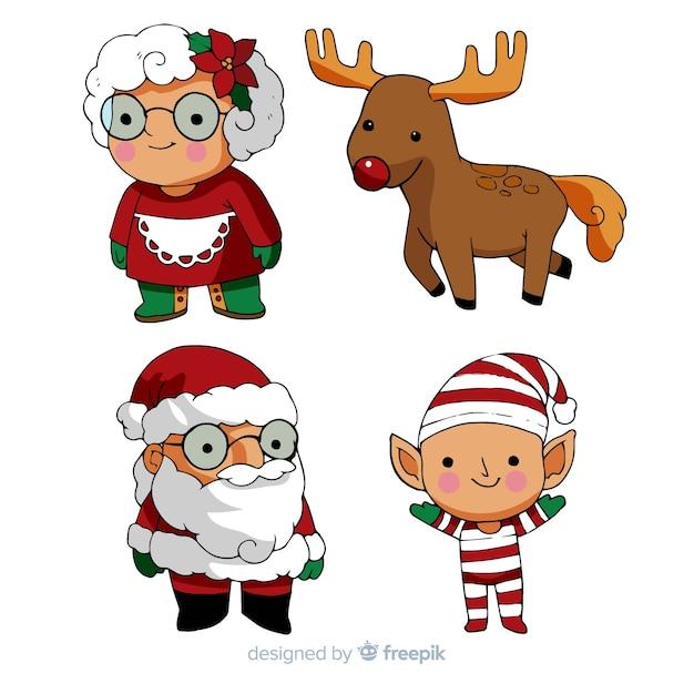 Colección Personajes Navidad Dibujo Animado Descargar