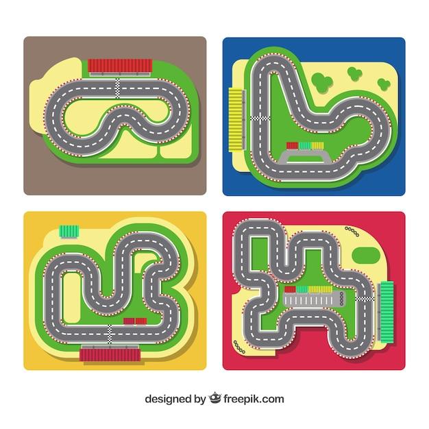 c1c1f4372c Colección de pistas de carreras de formula 1 | Descargar Vectores gratis