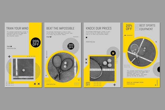 Colección de plantilla de póster deportivo Vector Premium