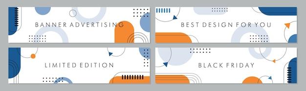 Colección de plantillas de banner de venta para venta de promoción. Vector Premium