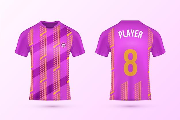 Colección de plantillas de camisetas de fútbol Vector Premium