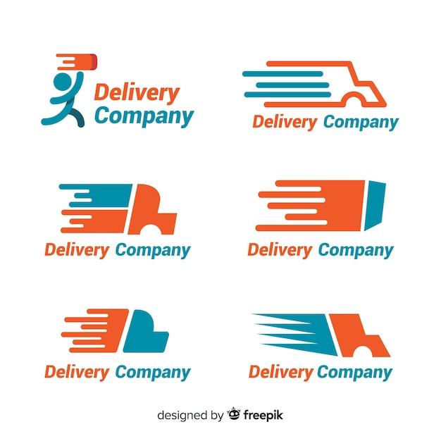 Colección de plantillas de logotipos de envíos vector gratuito