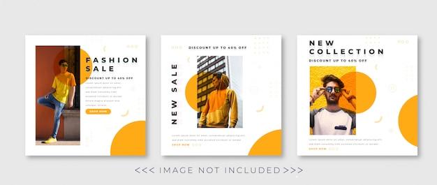 Colección de plantillas de publicaciones en redes sociales Vector Premium