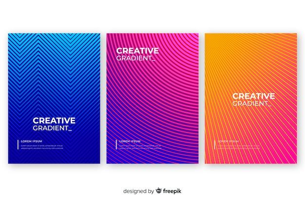 Colección de portada abstracta colorida vector gratuito