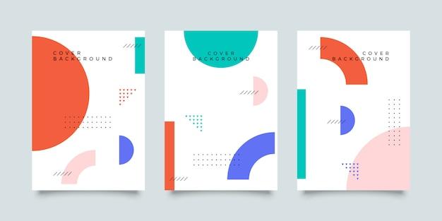 Colección de portadas de memphis Vector Premium