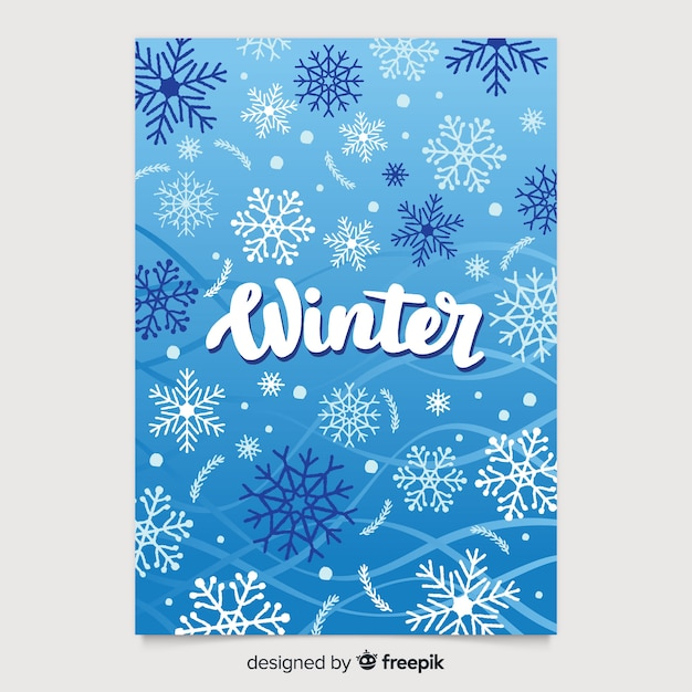 Colección de póster estacionales dibujado a mano vector gratuito