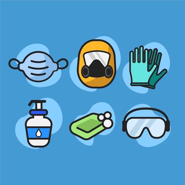 Colección de protección de equipos de virus vector gratuito