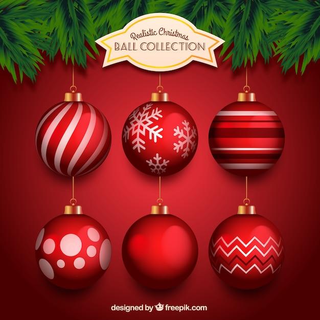 ee1ec7fd963 Bolas Rojas De Navidad