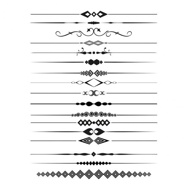 Colección de separadores de página decorativos vector gratuito