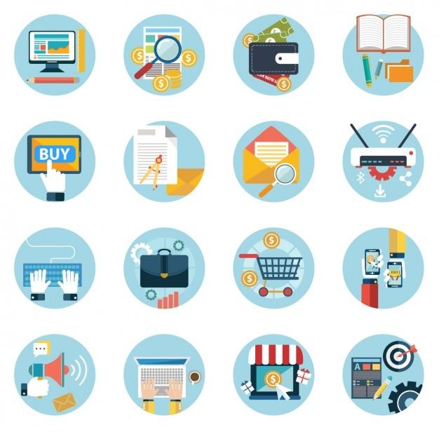 Colección sobre los negocios vector gratuito