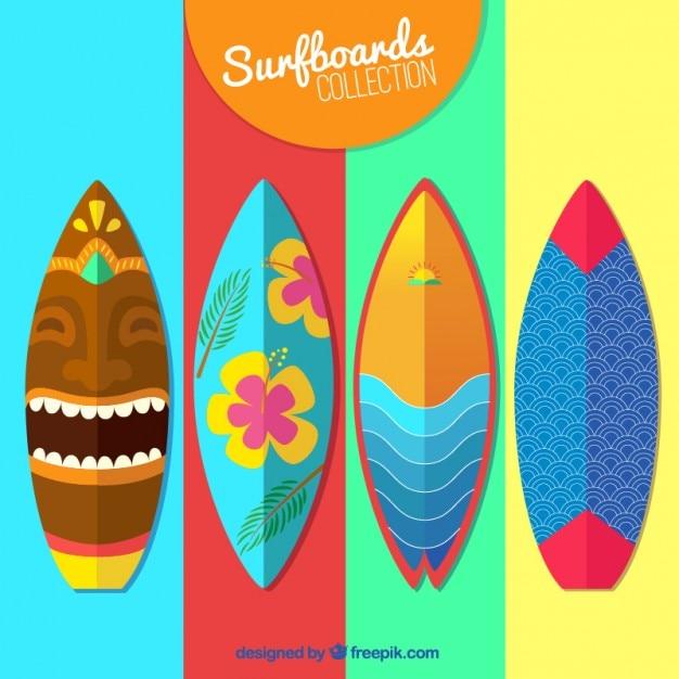 Colección de tablas de surg coloridas vector gratuito