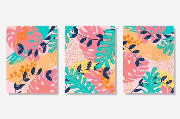 Colección de tarjetas de estilo memphis. vector gratuito