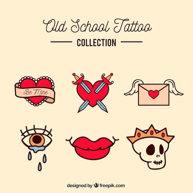 Colección De Tatuajes Old School Pequeños A Color Descargar