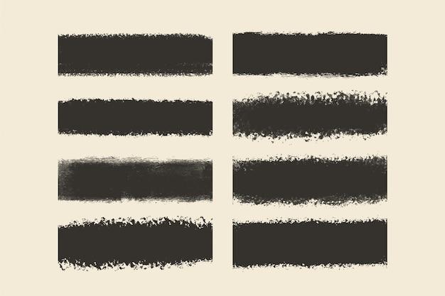 Colección de trazos de pincel grunge vector gratuito