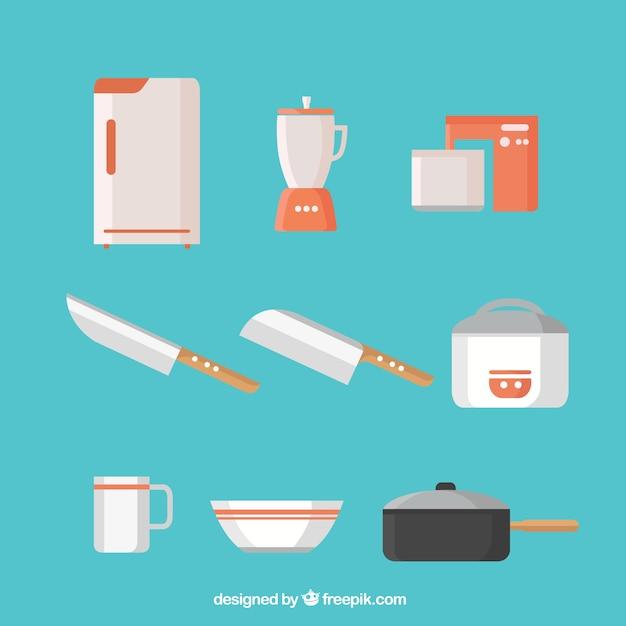 Colección de utensilios de cocina en diseño plano   Descargar ...