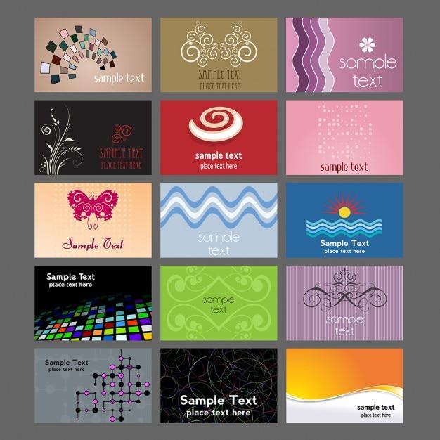 colección de varios diseños para tarjetas de visita descargar