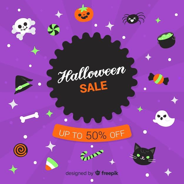 Colección de venta de elementos de halloween dibujados a mano vector gratuito