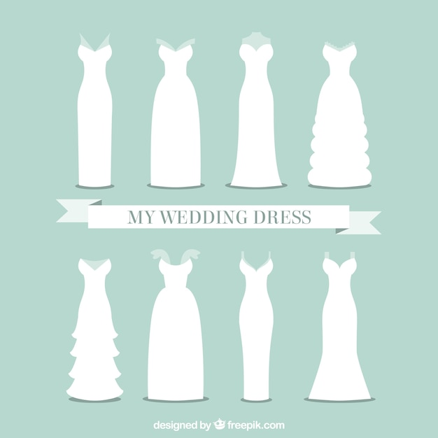 colección de vestidos de novia   descargar vectores gratis