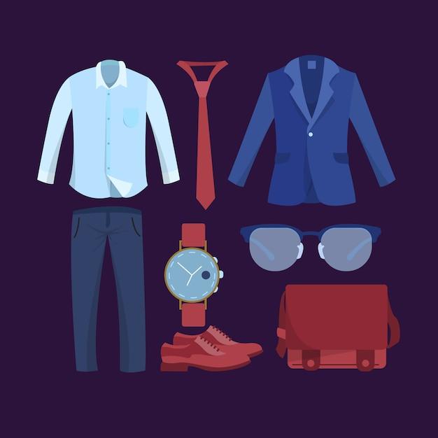 Colección de vestuario formal para hombre Vector Premium