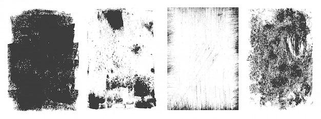 Colección vintage de marcos rectangulares grunge vector gratuito