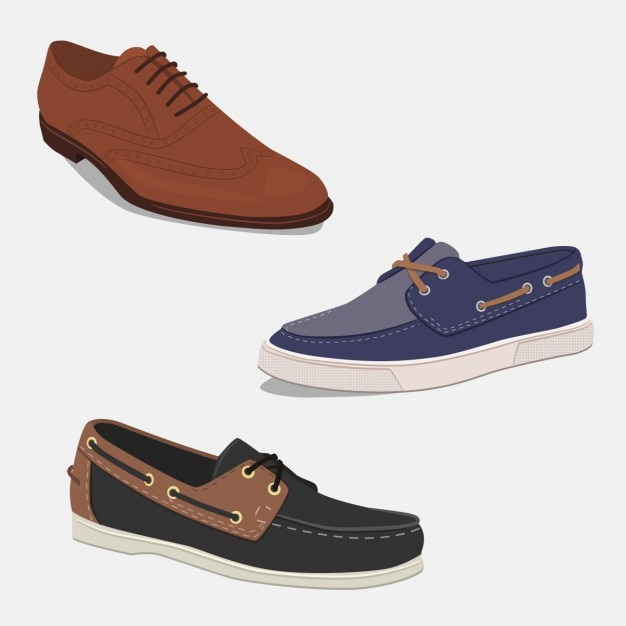 Colección de zapatos elegantes vector gratuito