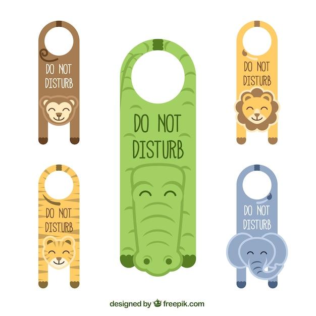 colgadores de puertas de animales descargar vectores gratis